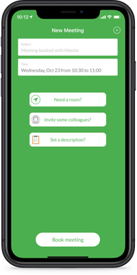 Meetio Personal phone app new meeting