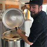 Johannes brewing beer