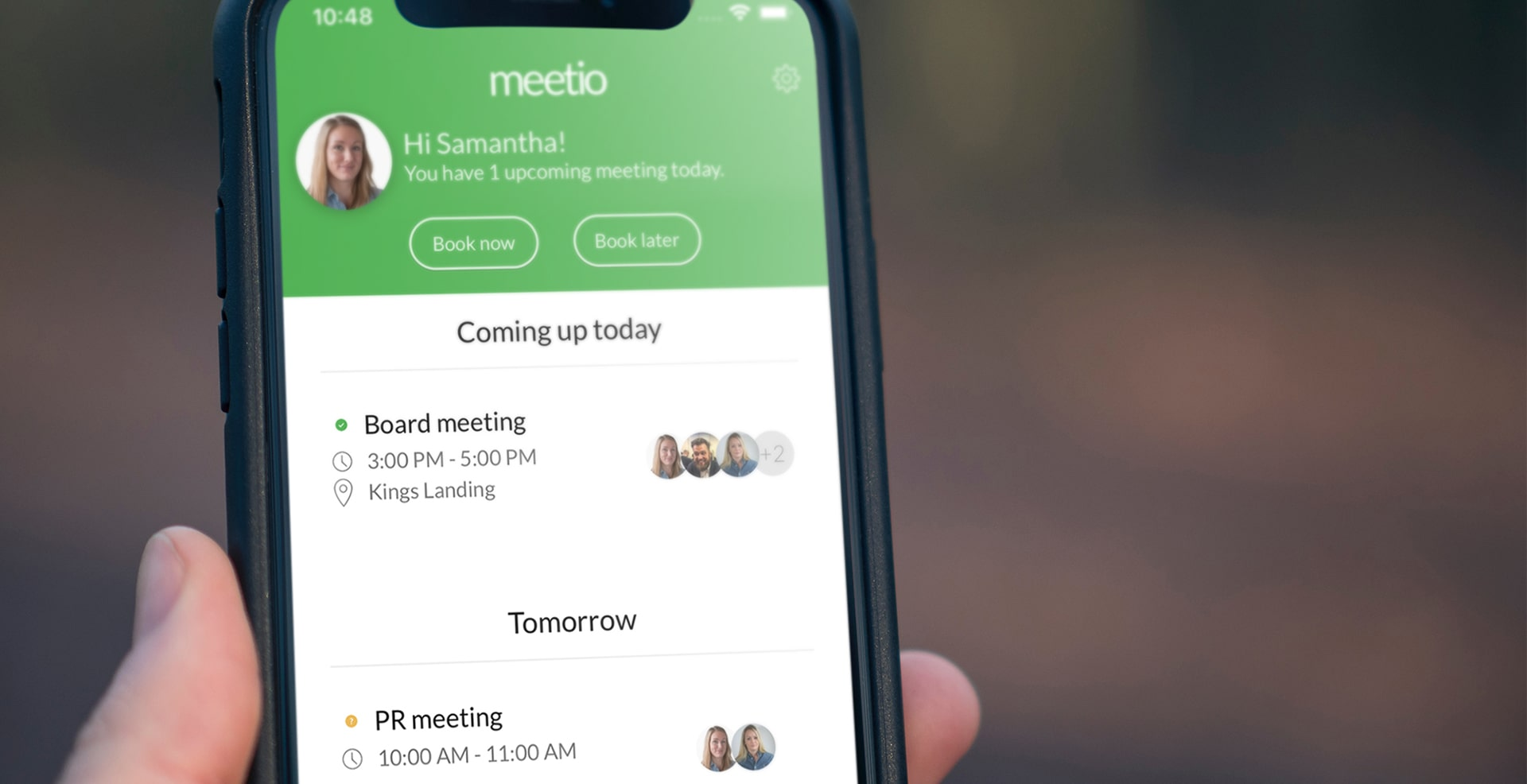 Meetio App calendar view