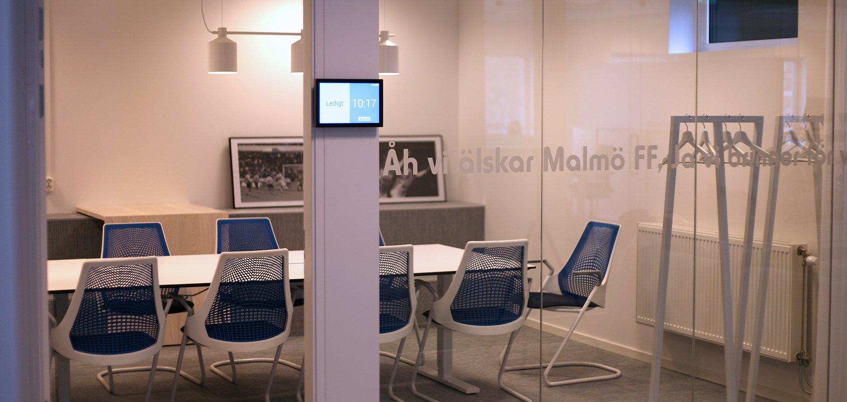 Malmö FF brandar sina konferensrum