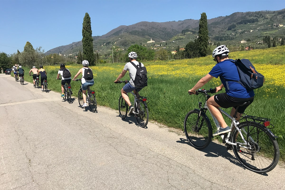 Meetio team on a bike tour in Tuscany, Italy