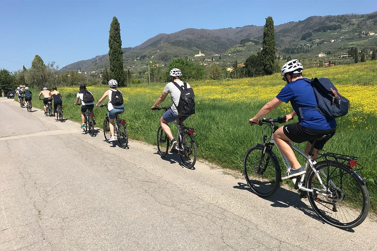 Meetio på cykeltur i Toscana