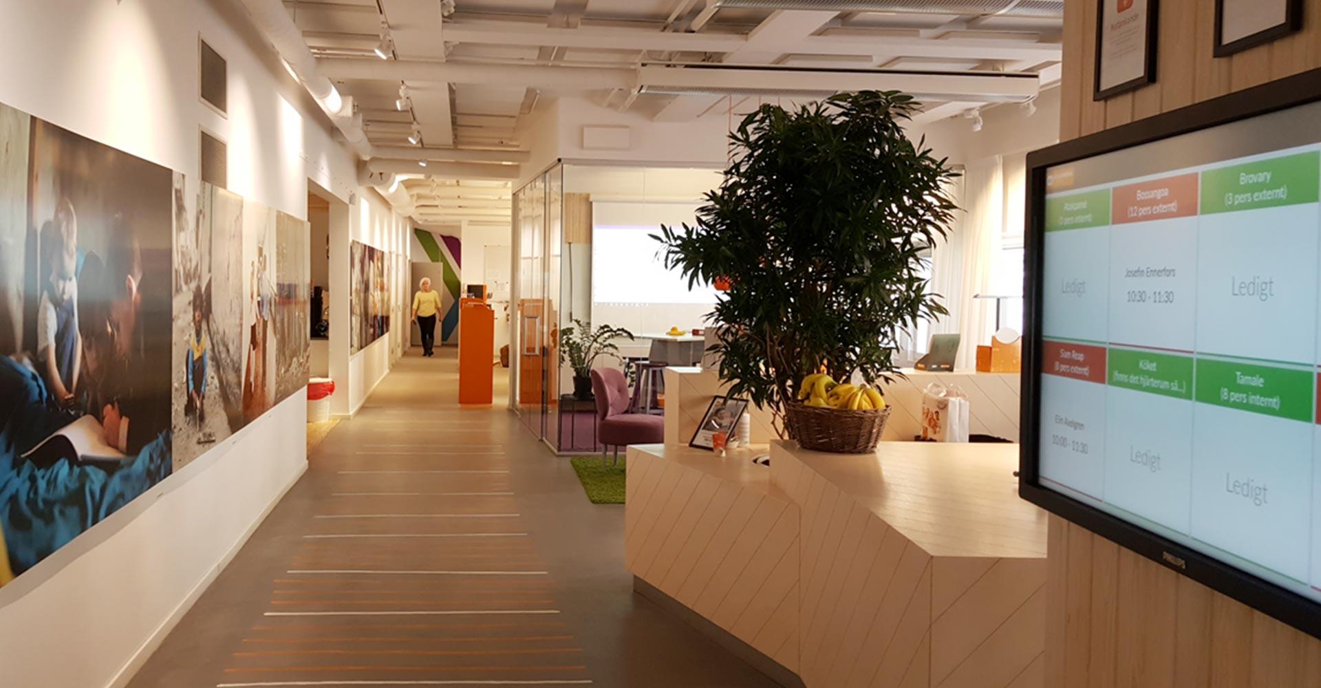 Meetio View på SOS Barnbyars kontor i Stockholm