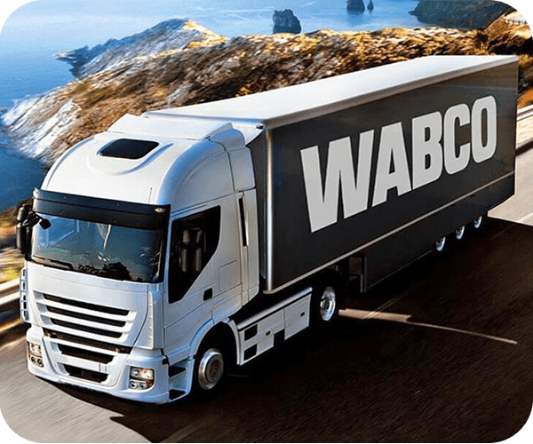 Wabco truck on the road