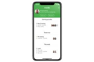 Meetio app i telefon