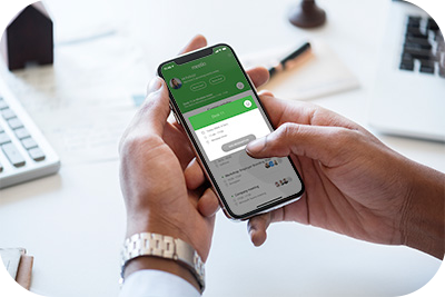 Meetio Desk-bokning genom Meetio-appen