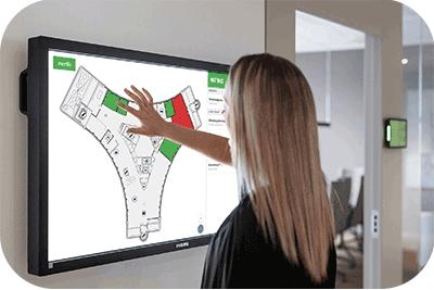 Visualisering av skrivbord i kartvyn