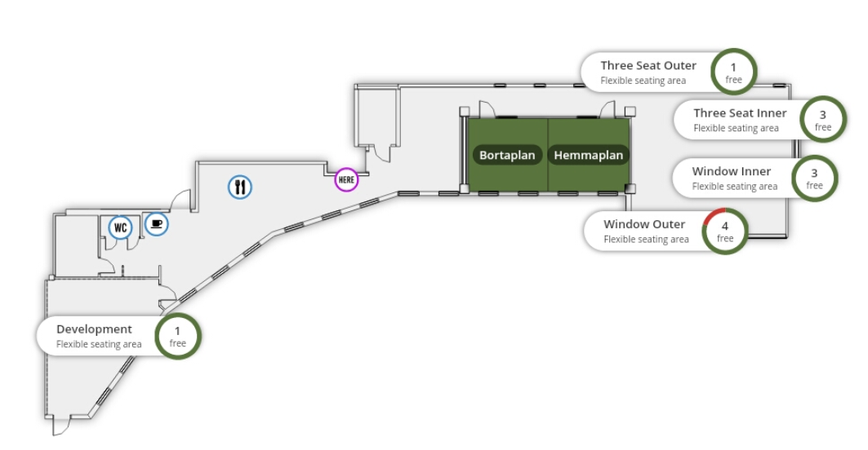 Workspaces displayed in Meetio View