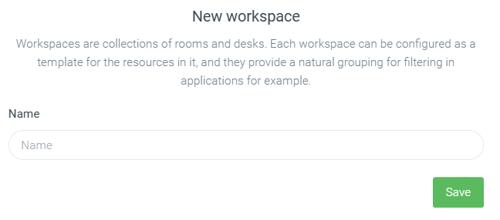 New workspace in Meetio Admin