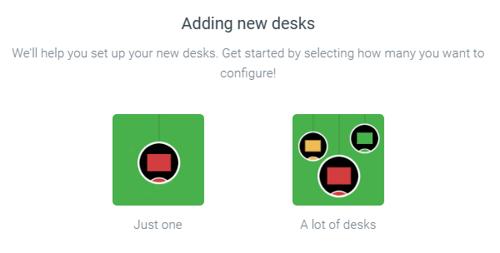Add desks in Meetio Admin