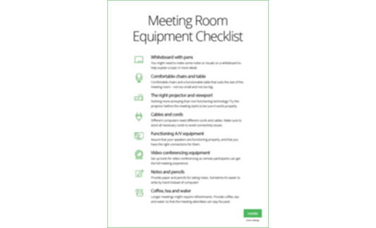 Meeting room equipment poster
