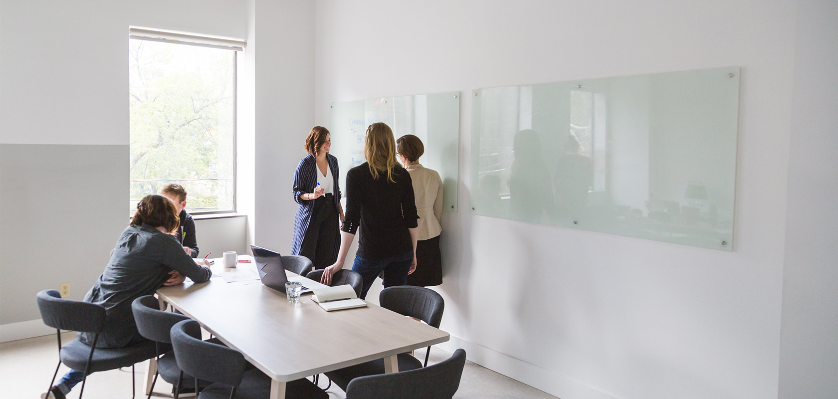 Successful team meeting