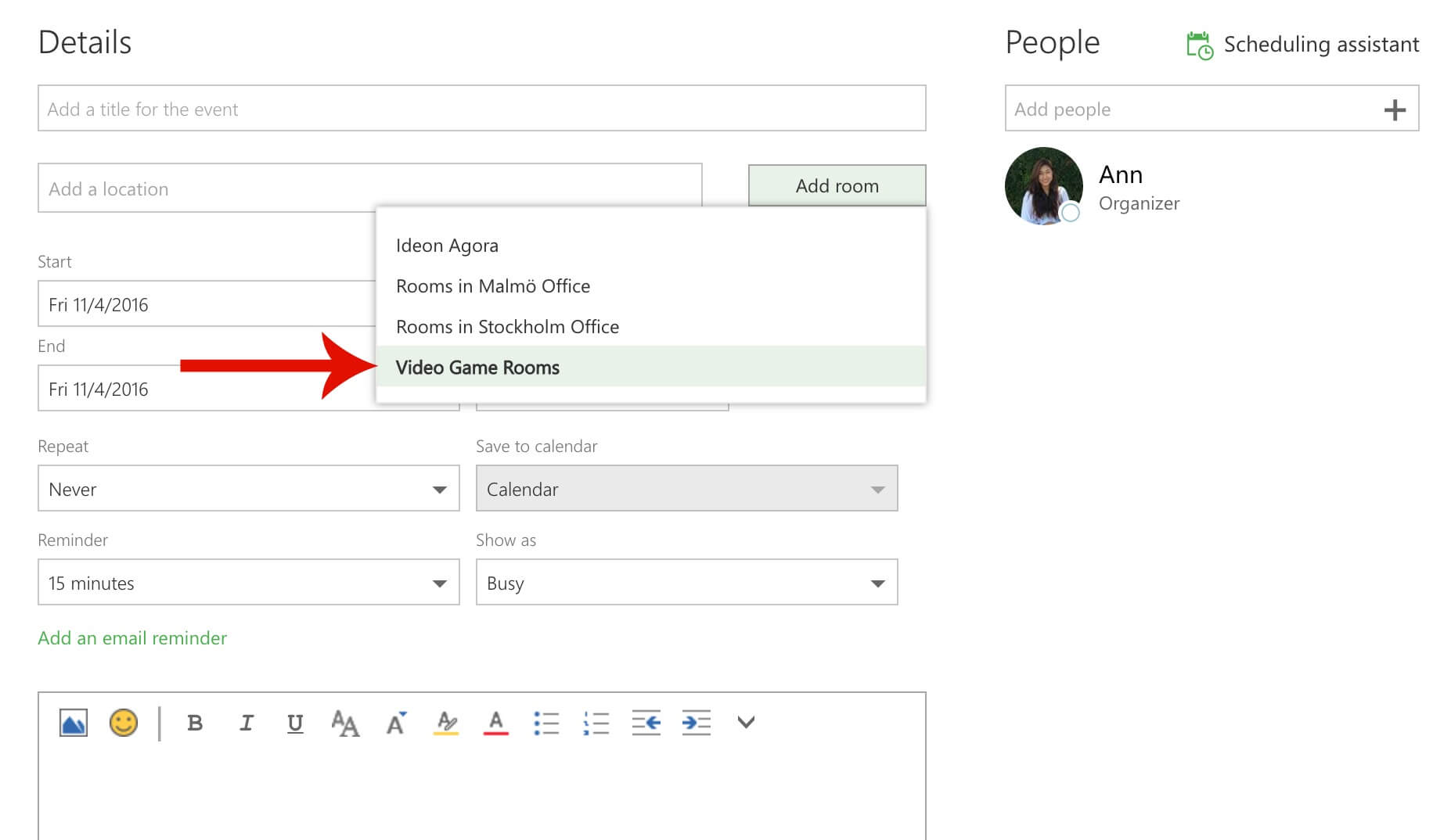 Guide Outlook Choose Office