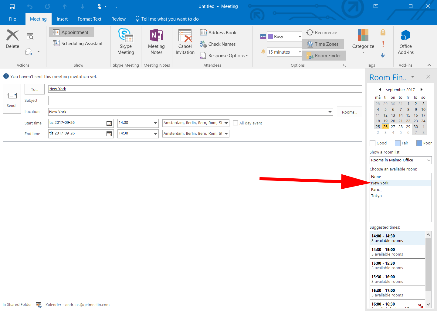 Guide Outlook choose subject