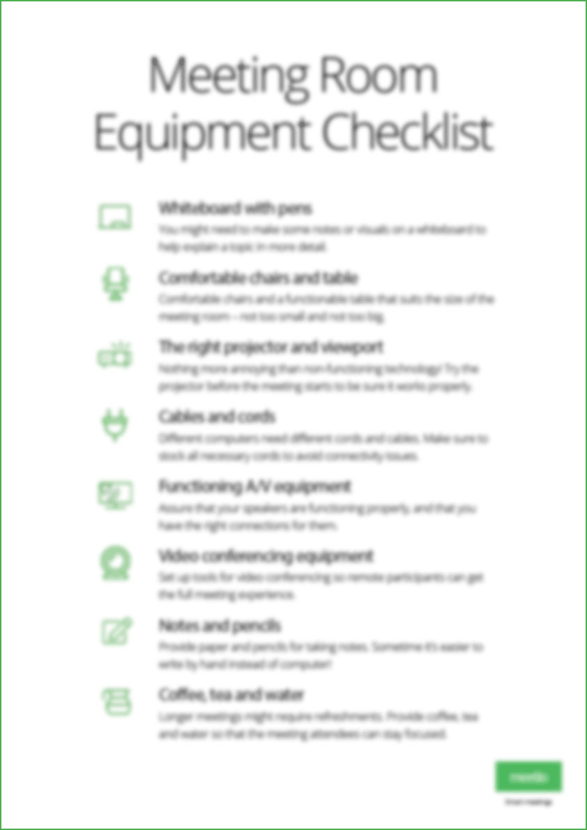 Room equipment poster
