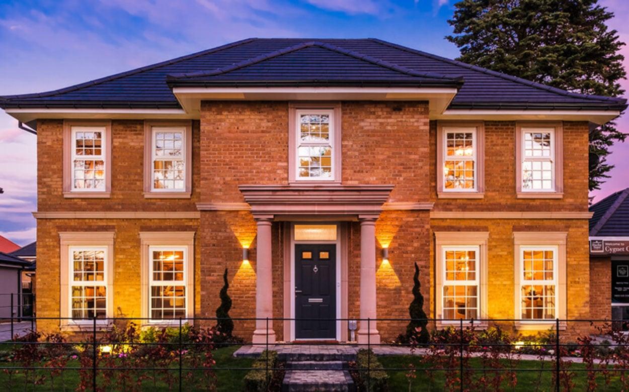 Brick house by Duchy Homes