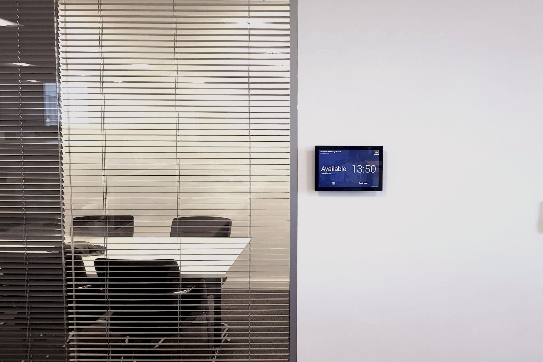 Meetio Room tablet at Duchy Home's office