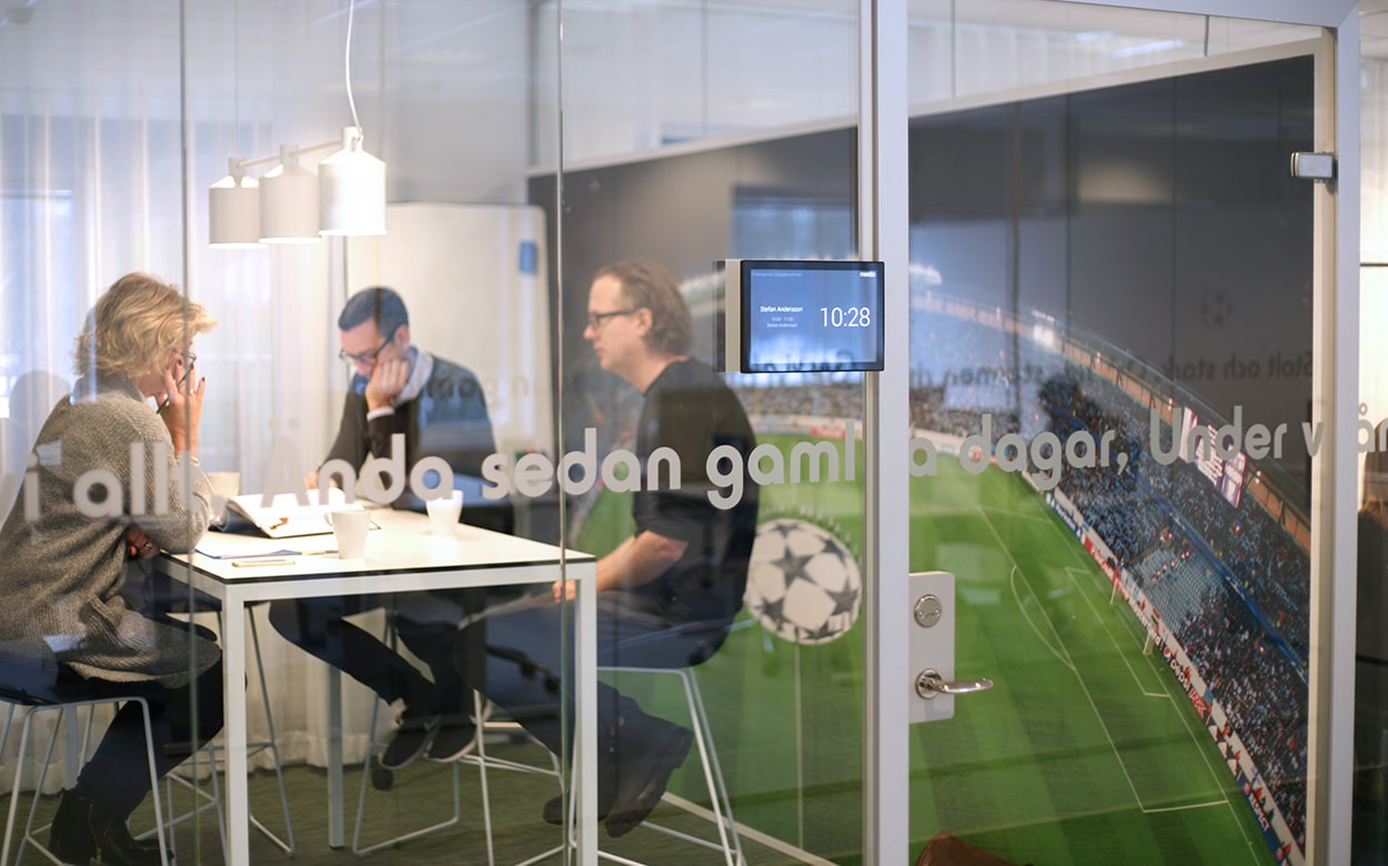 Meeting room at the Malmö FF office