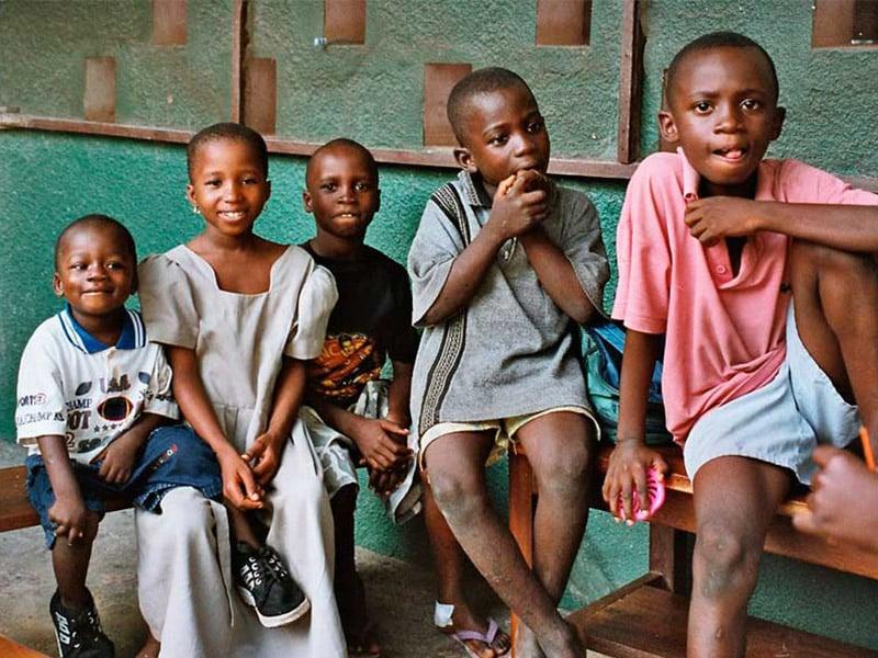 Barn i SOS Barnbyar