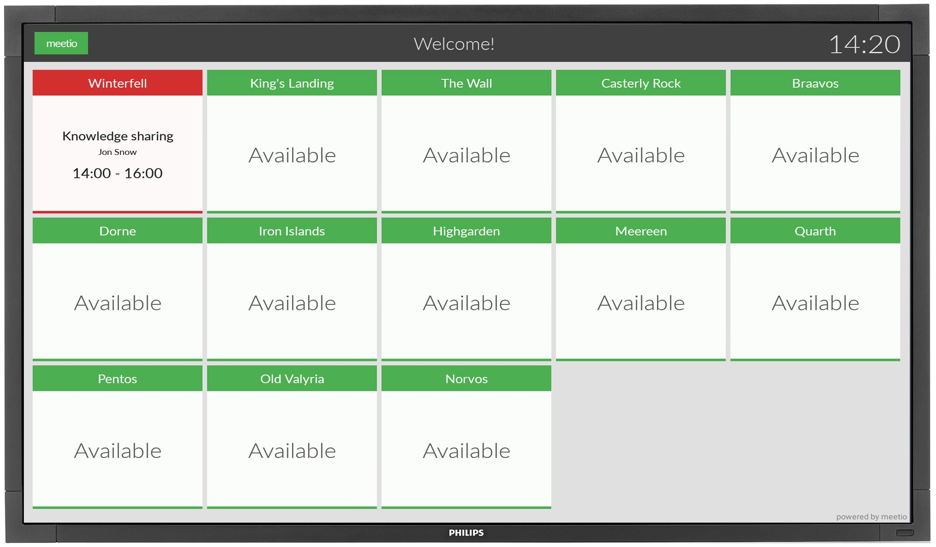 Grid view in Meetio View