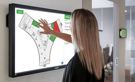 Meetio View - Överblicka hela din arbetsplats med en interaktiv skärm